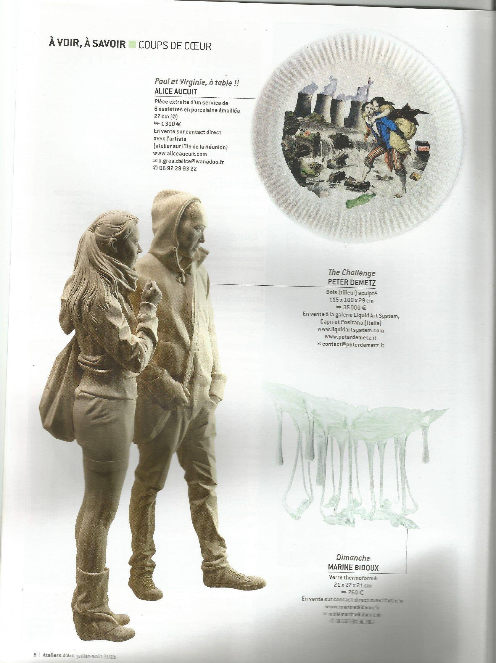 Ateliers d 39 art de france juillet aout 2016 alice aucuit artiste c ram - Ateliers d arts de france ...